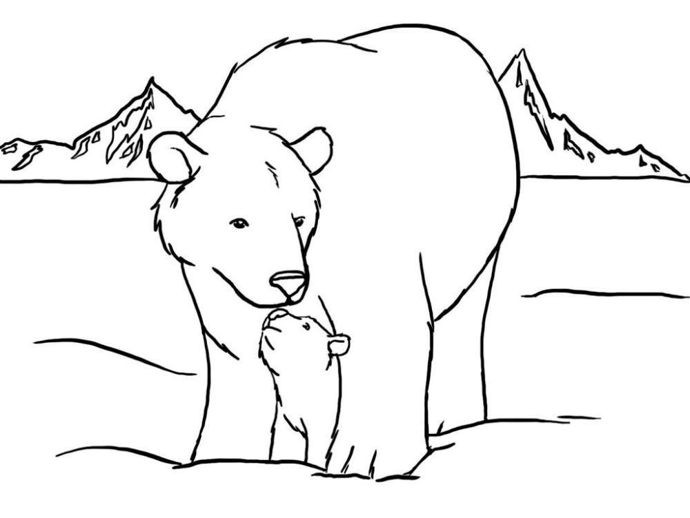 tundra coloring pages for kids - photo#34